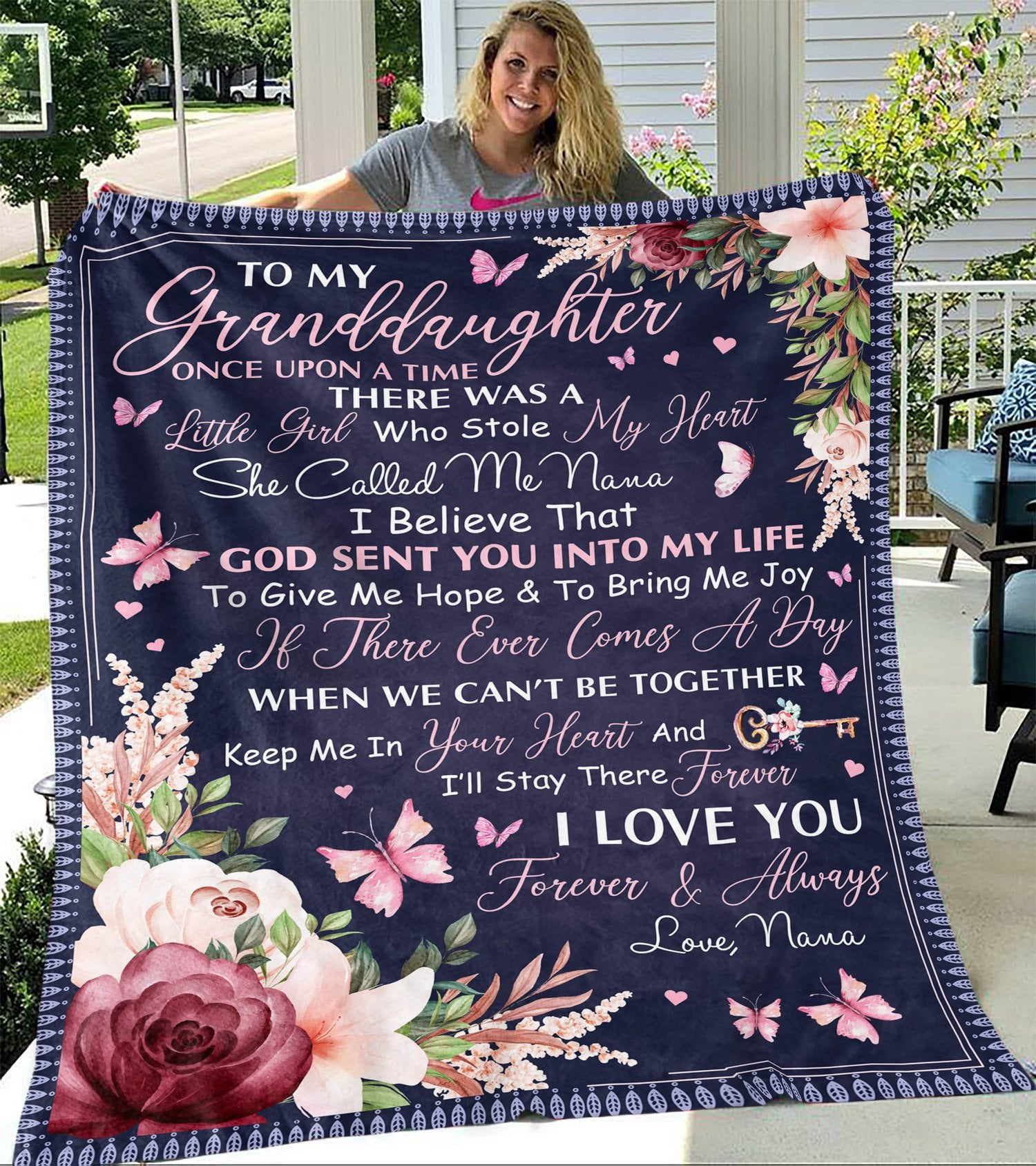 Grandma Blanket To My Granddaughter Once Upon A Time | Family Blanket