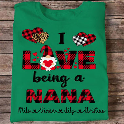 I Love Being Nana Gnome | Personalized T-shirt