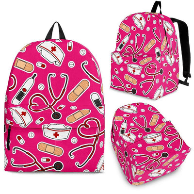 Backpack Red / Adult (Ages 13+) Medical Pattern Backpack