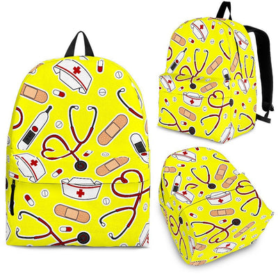 Backpack Yellow / Adult (Ages 13+) Medical Pattern Backpack