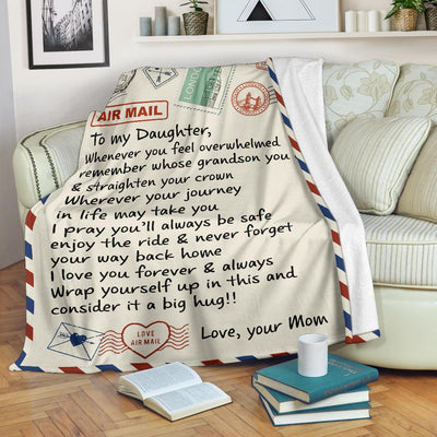 To My Daughter Gift From Mom Letter Blanket