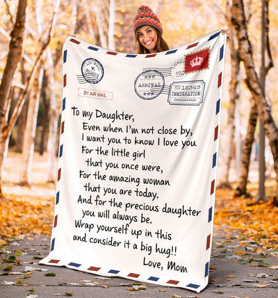 To My Daughter Letter Blanket