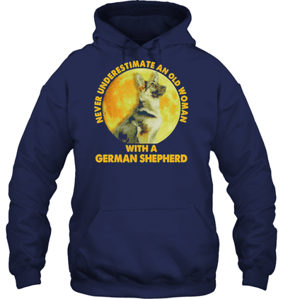 Never underestimate an old woman with a German Shepherd