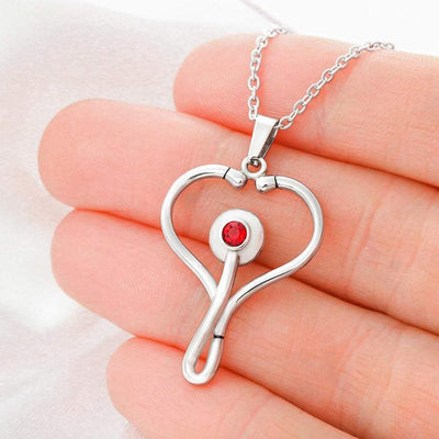 To My Nurse Wife Stethoscope Necklace