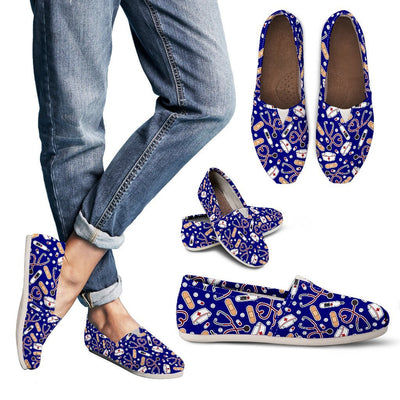 Shoes Women's Casual Shoes - Canvas - Navy / US6 (EU36) Medical Pattern Toms
