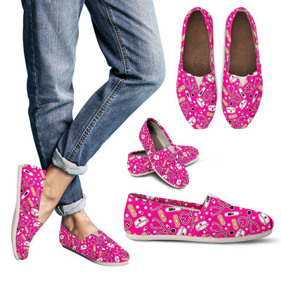 Shoes Women's Casual Shoes - Canvas - Pink / US6 (EU36) Medical Pattern Toms