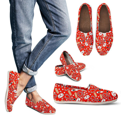 Shoes Women's Casual Shoes - Canvas - Red / US6 (EU36) Medical Pattern Toms
