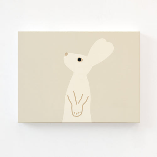 HEART RABBIT BEIGE CANVAS