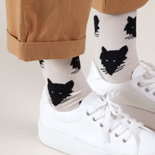 Wolf - Cream White Socks