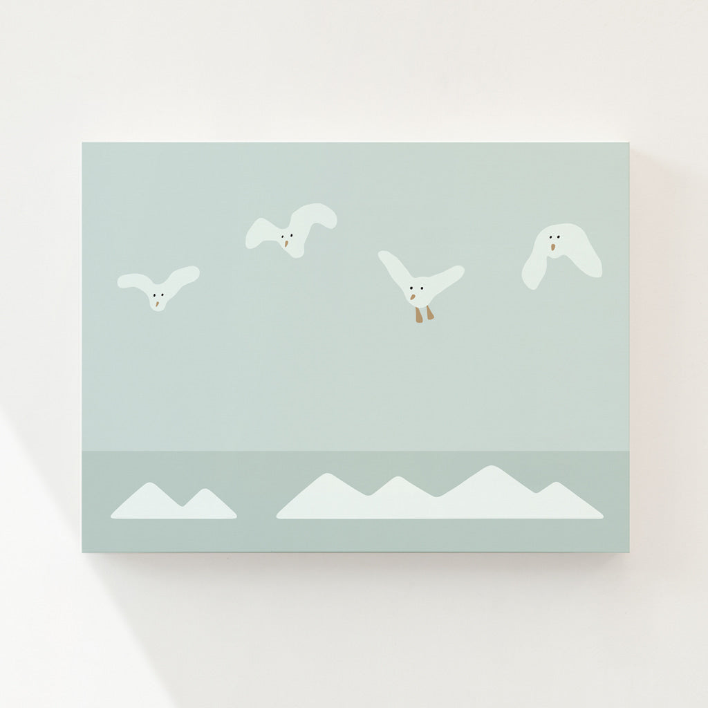 FLYING SEAGULLS CANVAS