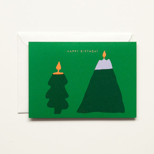 HAPPY BIRTHDAY TREE FOLDING CARD