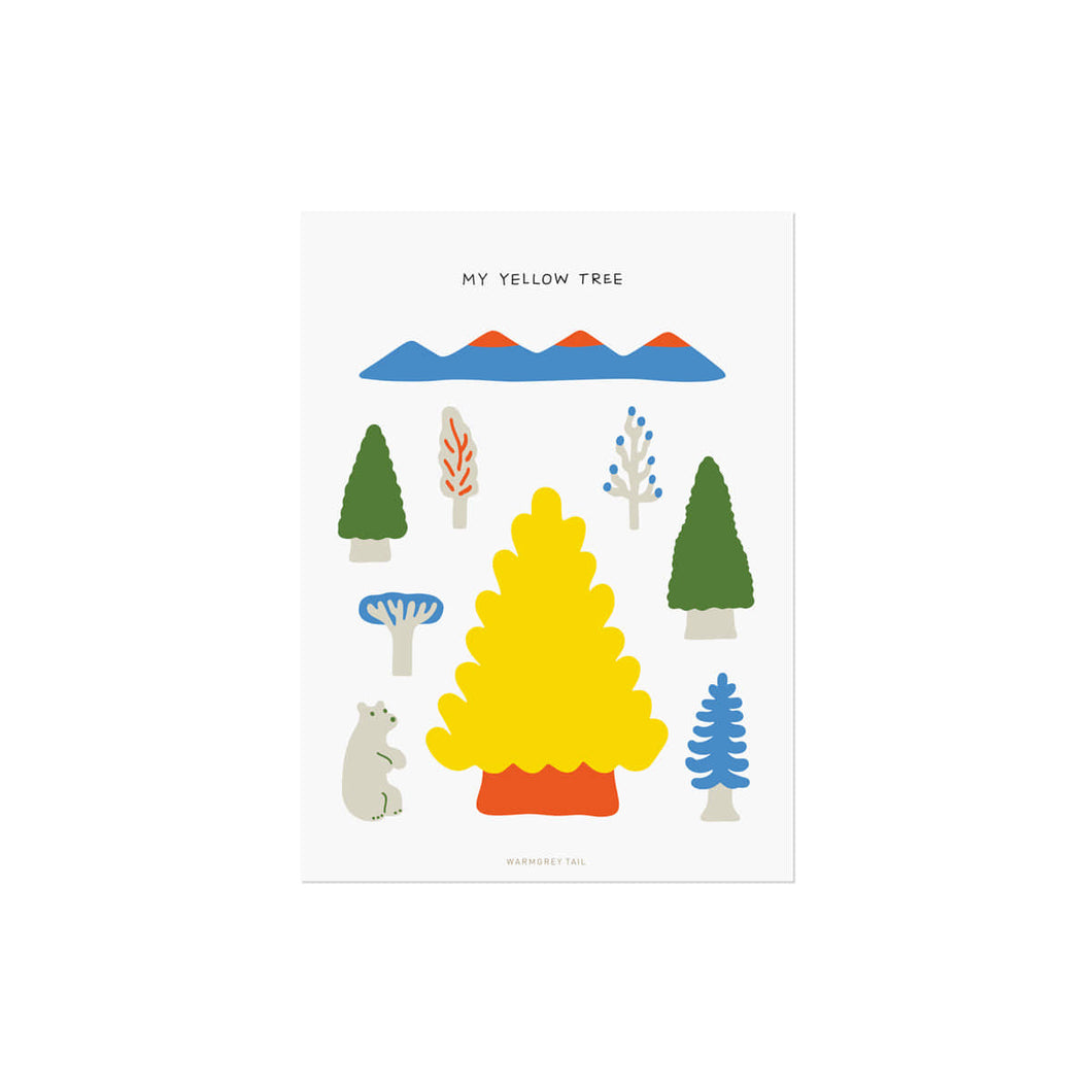 MY YELLOW TREE POSTCARD