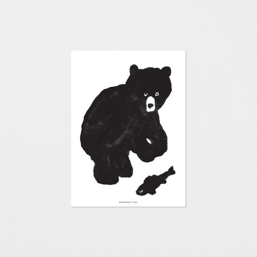 BLACK BAER POSTCARD