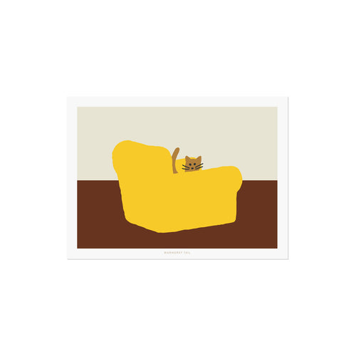 ARMCHAIR YELLOW POSTCARD