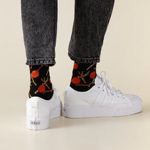 Red Fruit - Black Socks