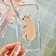 Huggy Bear - Cream Clear Phone Case