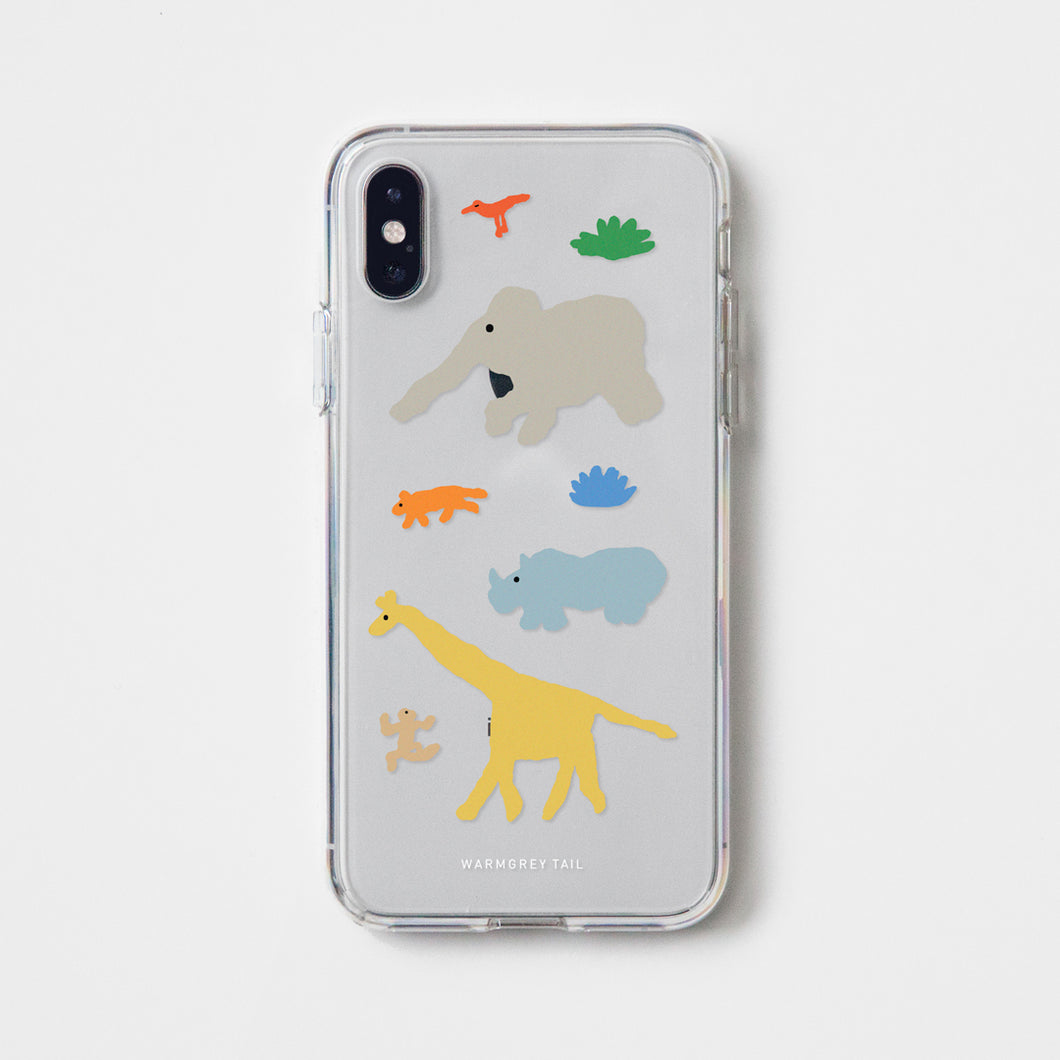 Savanna - Yellow Clear Phone Case