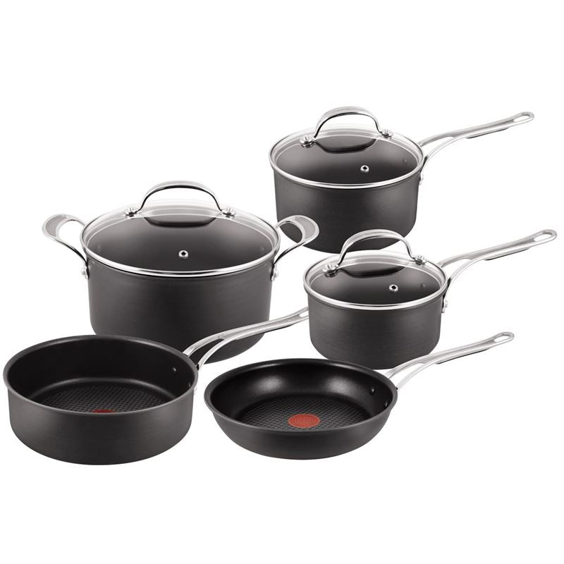 Tefal Cookware - Jamie Oliver Hard Anodised 5 piece set