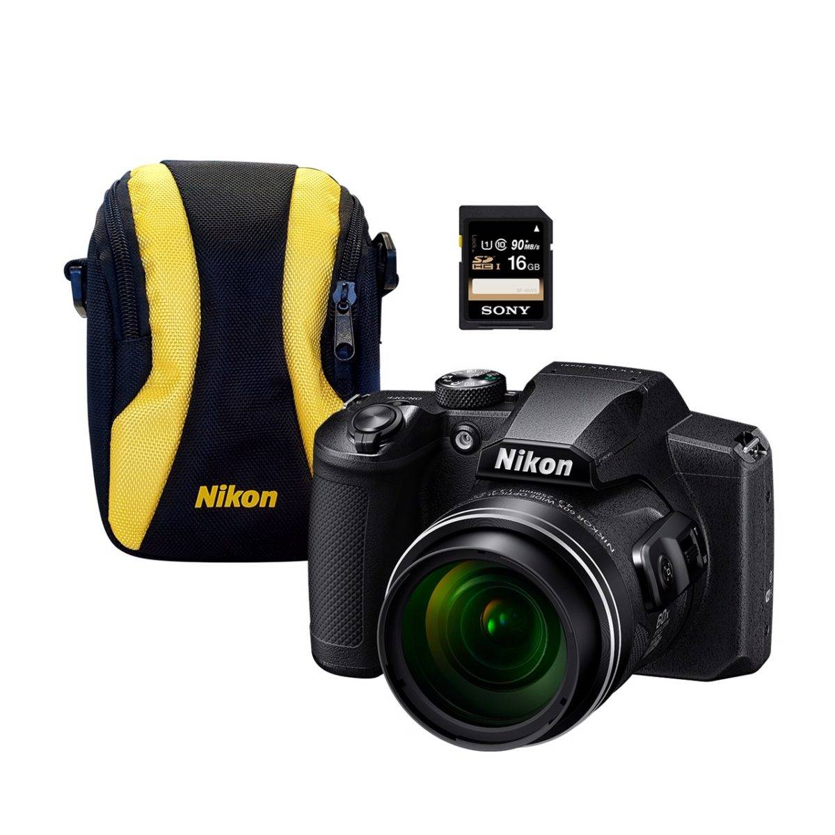 Nikon Coolpix B600 BLACK + BAG + 16GB SD CARD