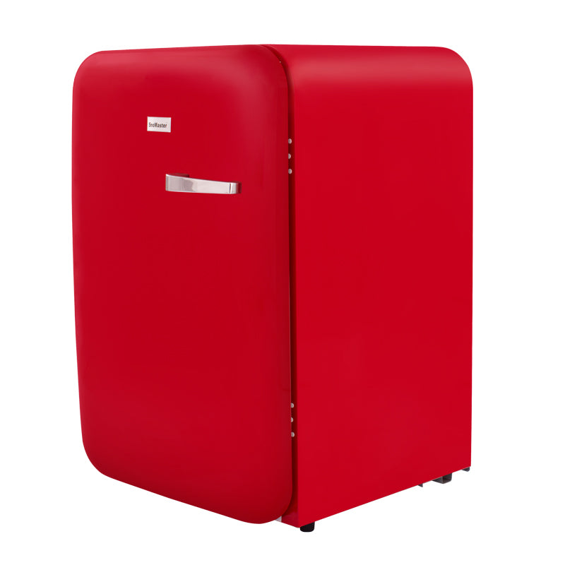 SnoMaster 115L Under Counter Retro Red Beverage Cooler (DBQ-220R)