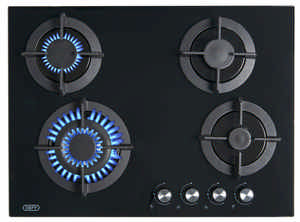 DHG130 HOB DEFY GAS 4 BURNER GLASS