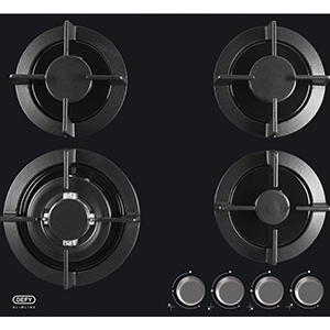 Defy Slimline 60cm Gas on Glass Hob DHG 604