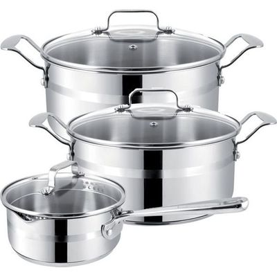 JAMIE OLIVER BRUSHED STAINLESS STEEL 6 PIECE SET