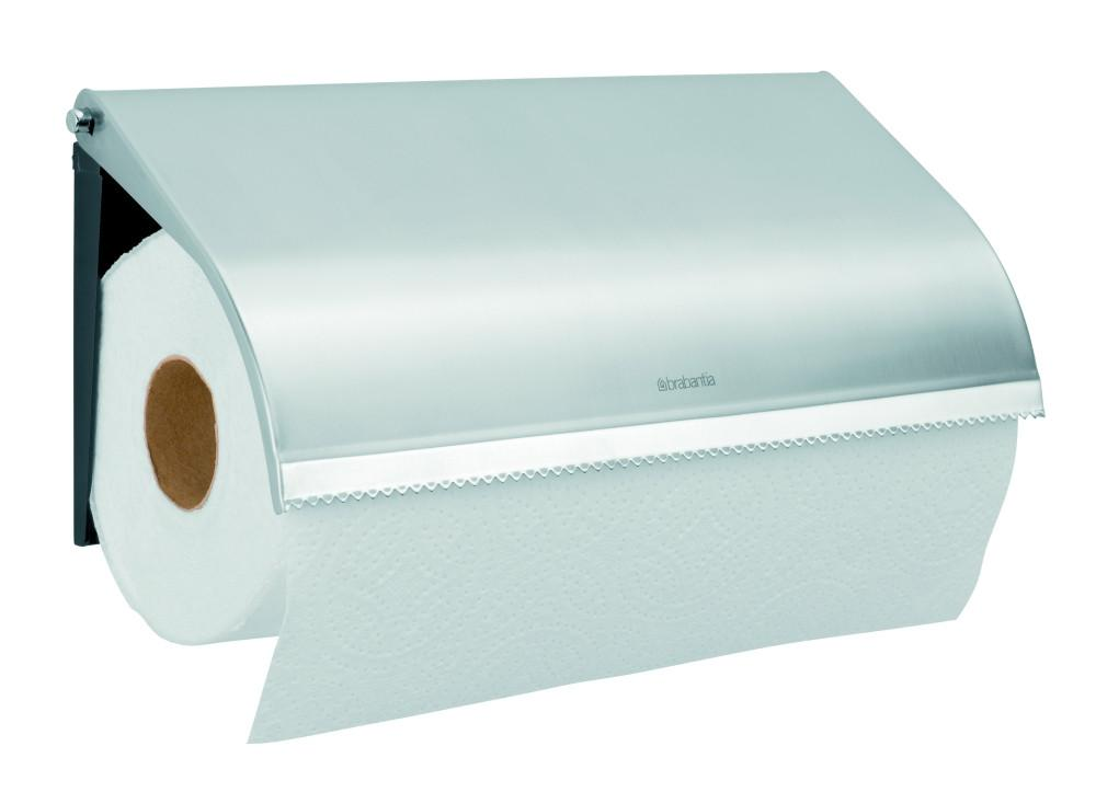 Kitchen Roll Holder, Wall Mounted - Matt Steel