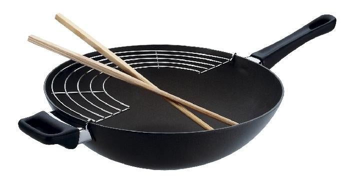 Classic Wok with Rack & Sticks 28cm