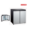 Goldair GUSS-240 Under Counter Side by Side Refrigerator - Black/Silver (240L)