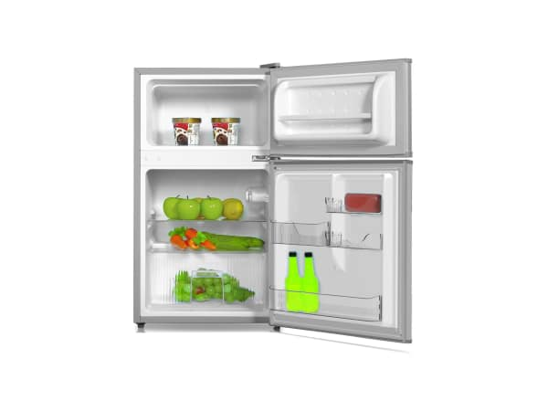 Midea - Double Door Bar Fridge - Silver