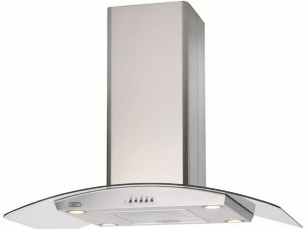 Defy Dch323 900 Island Curved Glass Extractor- Stainless Steel
