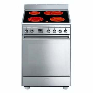 SMEG - 60cm Stainless Steel Concert Cooker with Burner and Multifunction oven