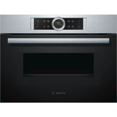Bosch Serie | 8 Compact oven with microwave CMG633BS1, Stainless steel