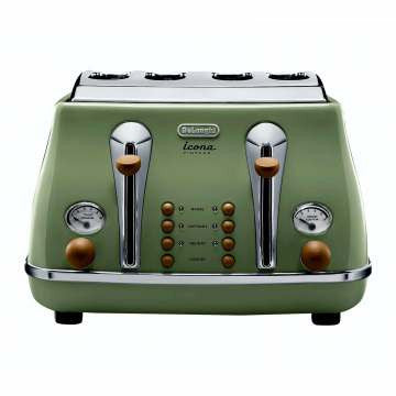 DELONGHI CTOV4003.GR - Icona 4 Slice Toaster Green