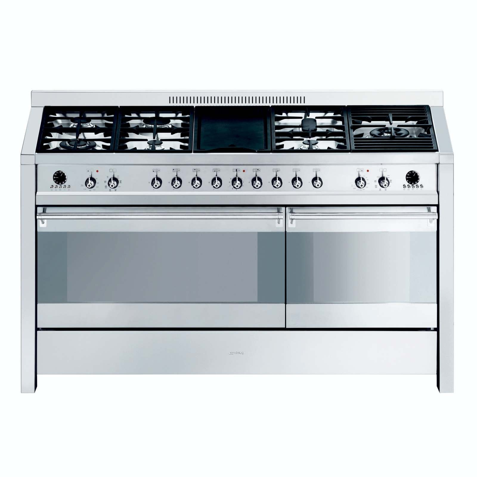 SMEG - 150cm Stainless Steel Opera Double Cavity Range Cooker
