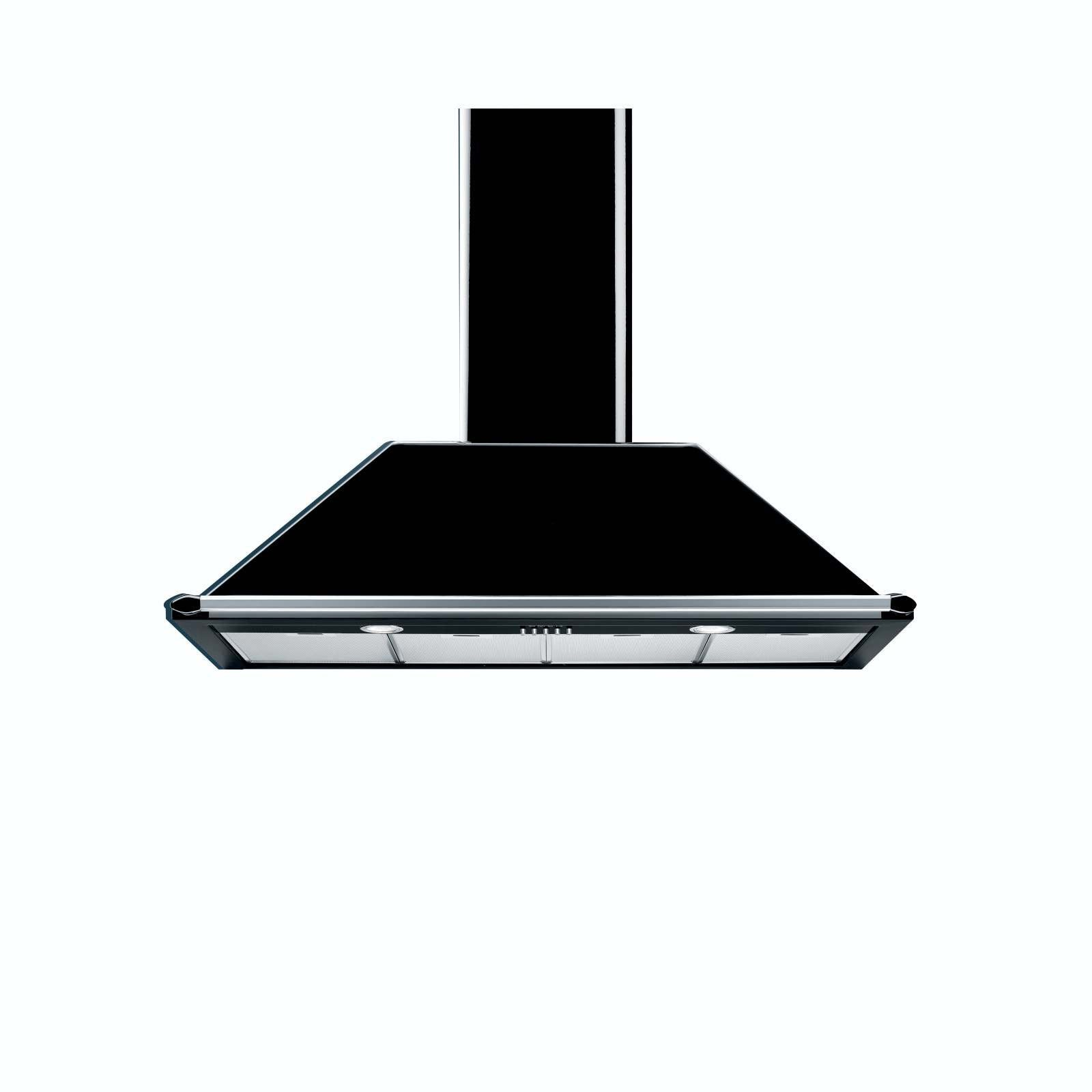 SMEG - 110cm Black Traditional Extractor