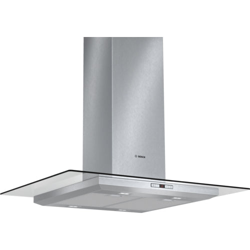 BOSCH - 90 cm, Chimney extractor hood with glass canopy