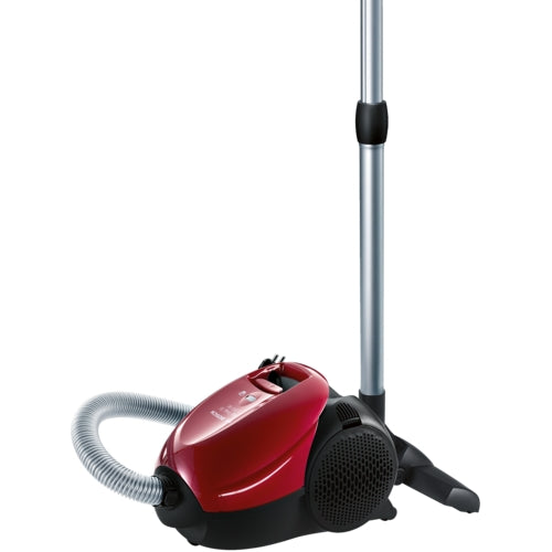 Canister vacuum cleaner bagged BSN1701RU chilli red Bosch 1700 W big bag 3 l