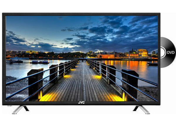 JVC 32 Inch HD LED TV with Built-In DVD Player (LT-32ND35)