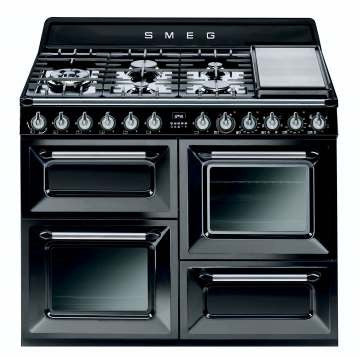 SMEG - 110cm Black Traditional Victoria Cooker