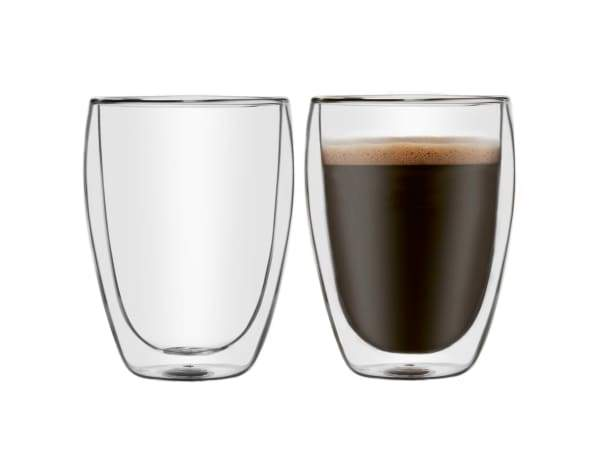 Delonghi Double Wall Latte Glasses, Set of 2
