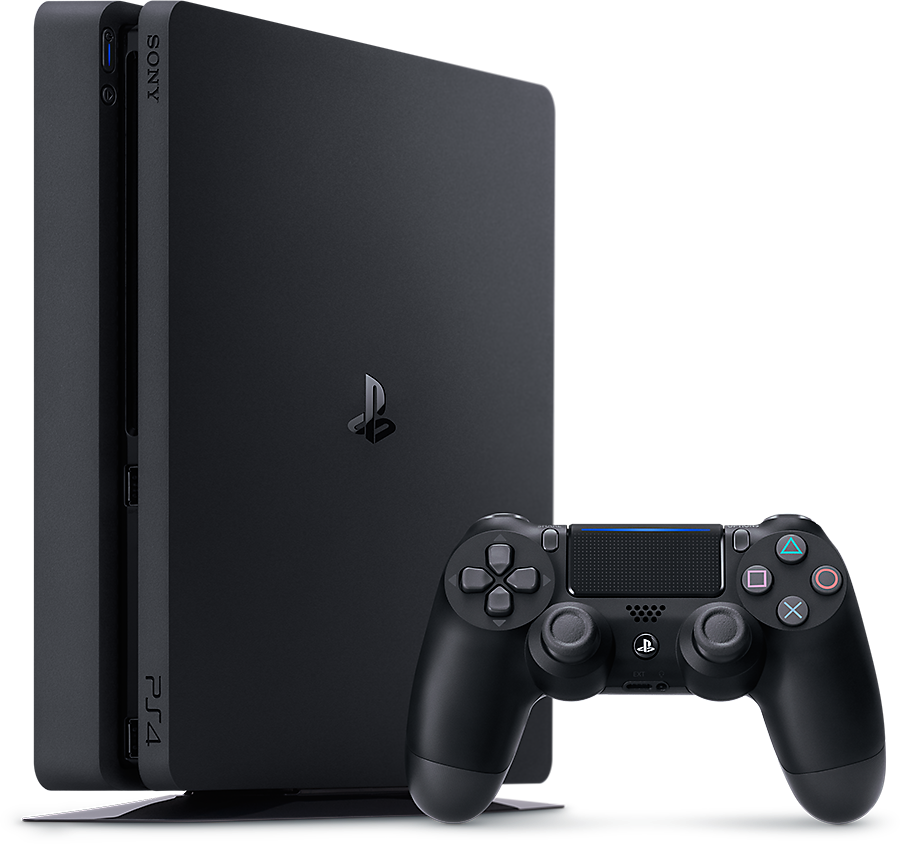 PS4 Slim 1TB + DS4 Black