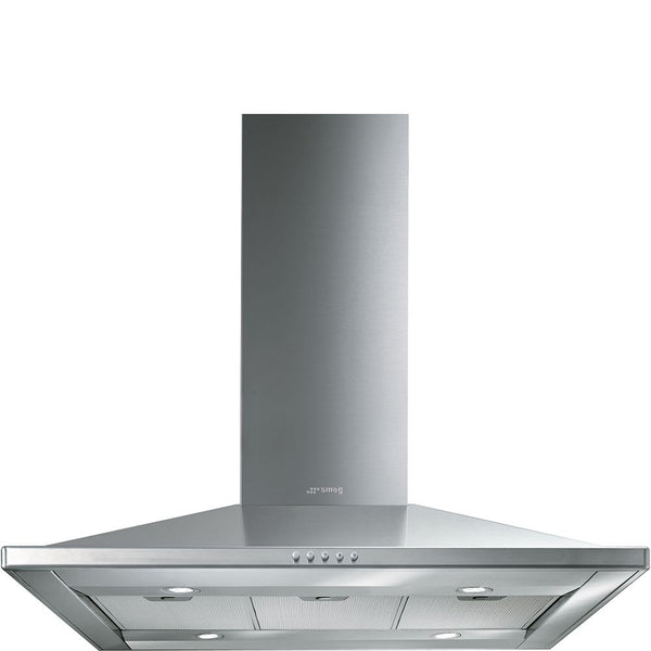 SMEG - 90cm Stainless Steel Island Extractor