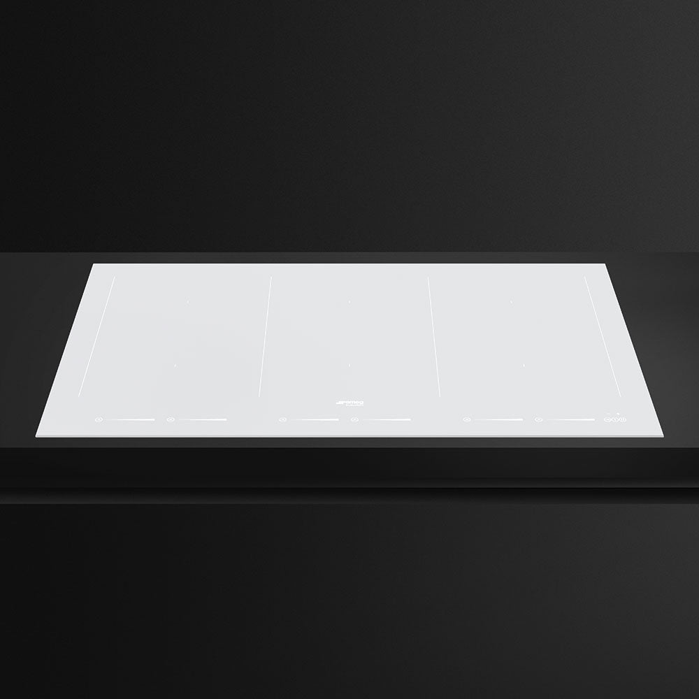 SMEG - 90cm Ceramic White Glass with Straight Edge Induction Hob