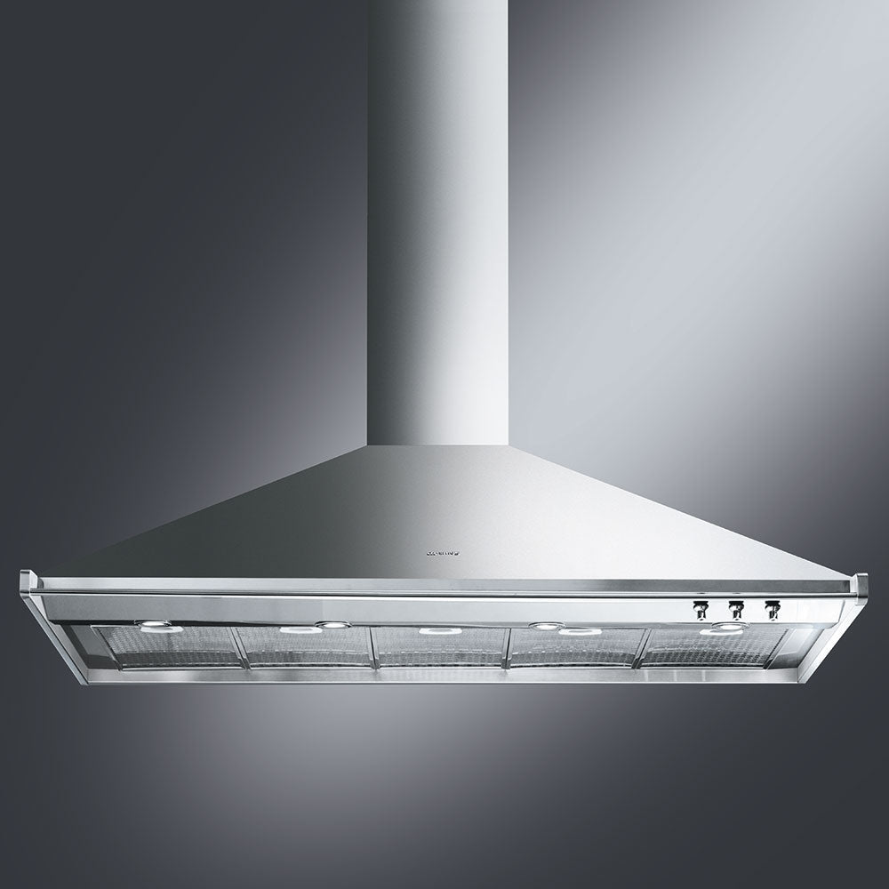 SMEG - 150cm Stainless Steel Classic Wall Mount Extractor Hood