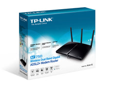 TP-LINK - AC750 Wireless Dual Band Gigabit ADSL2+ Modem Router