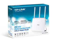 TP-LINK - AC1900 Wireless Dual Band Gigabit ADSL2+ Modem Router