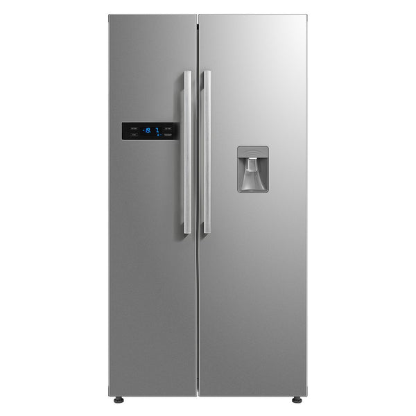 522L Side By Side Fridge - Water Dispenser - Stainless Steel