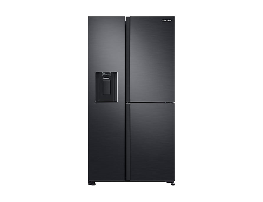 Samsung RS65R5691B4 Refrigerator, 3 Door Plumbed water & ice dispenser, 602 L, Gentle Black
